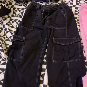 Urban Outfitters Cargo Pants Black